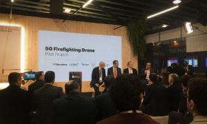 Presentación proyecto 5G dron contra incendios - SITEP, Cellnex, Mas Movil 5G Barcelona