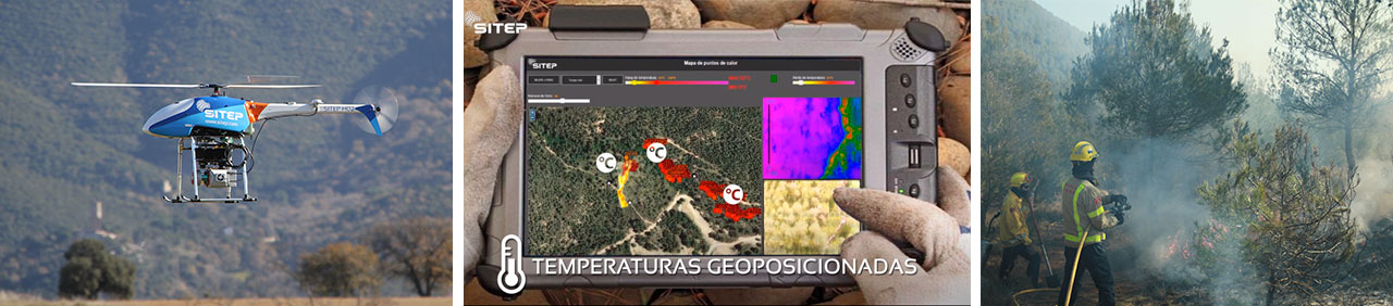 Dron contra incendios - Firefighter drone solution