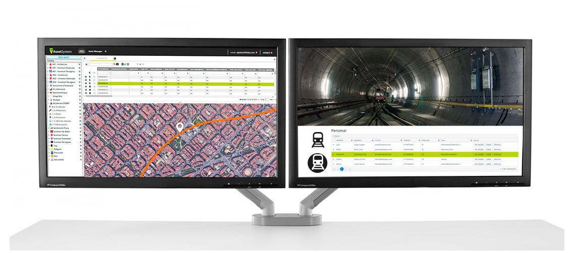 Plataforma SIG gestión elementos vía infraestructura ferroviaria SITEP