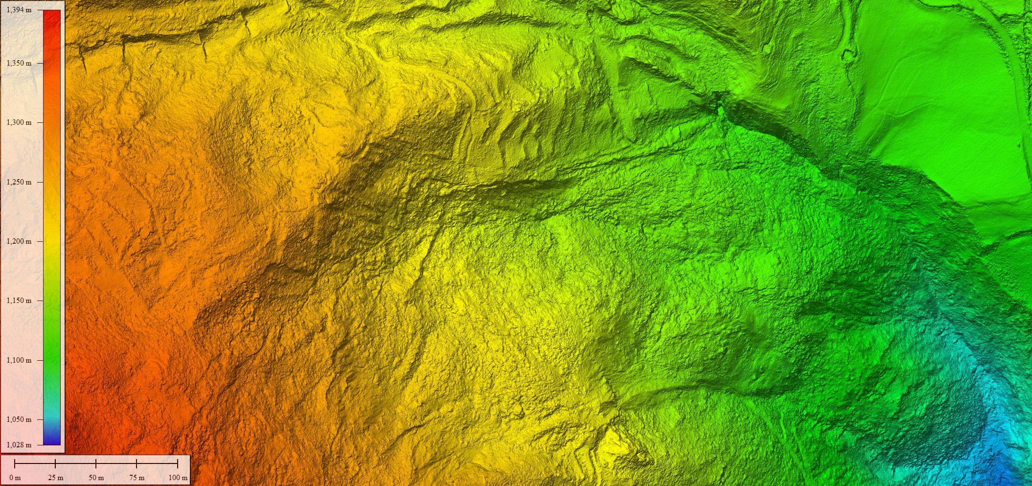 Modelo digital del terreno LiDAr con dron SITEP